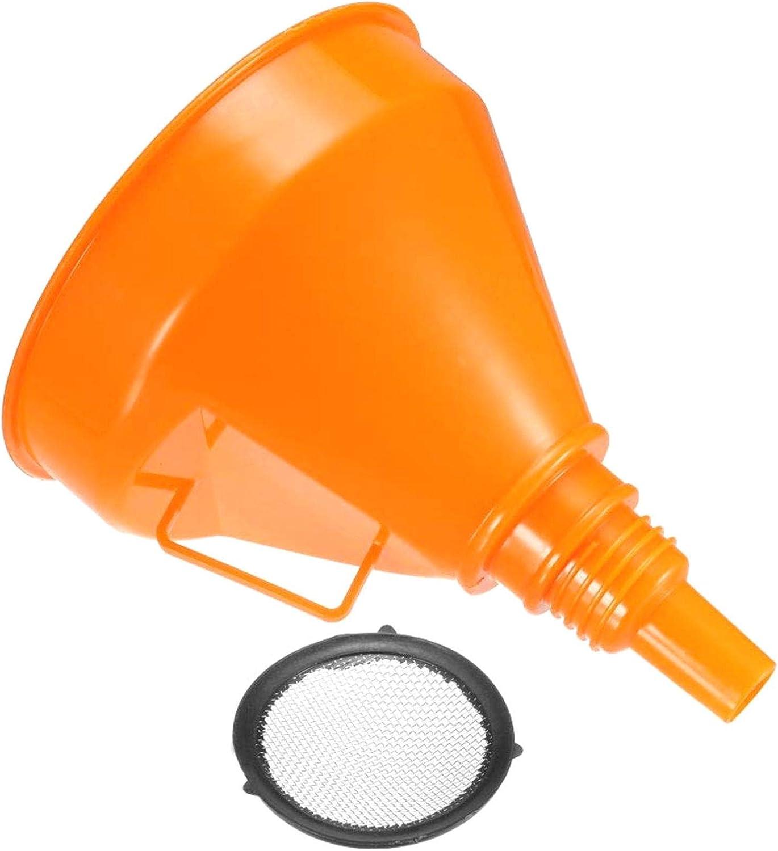 FOTN Embudo de Filtro de 6 Pulgadas de Combustible de pl/ástico Embudo para el Motor de Gasolina Gasolina Aceite Combustible Agua