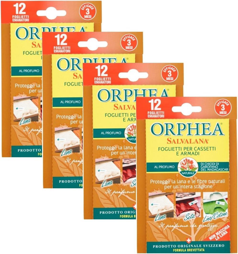 ORPHEA Salvalana Sticky para cajones y armarios al Perfume de clavos de clavel 4paquetes