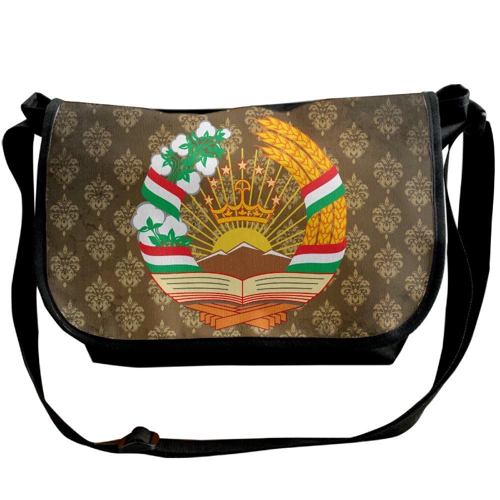 Lov6eoorheeb Unisex Coat Of Arms Of Tajikistan Wide Diagonal Shoulder Bag Adjustable Shoulder Tote Bag Single Shoulder Backpack For Work,School,Daily
