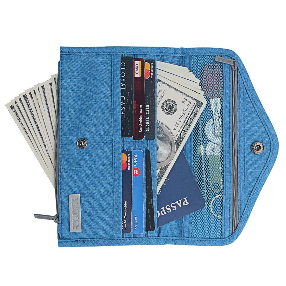 Kukoo Multi-purpose Travel Passport Wallet RFID Document Organizer Holder Cover Case