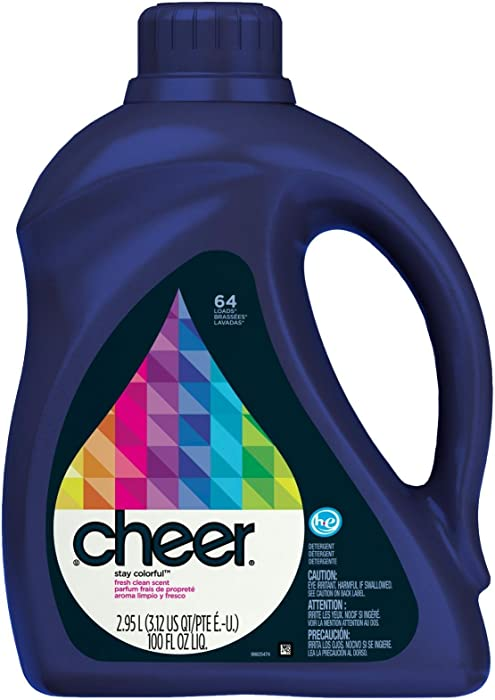 Cheer HE Liquid Detergent - 100 oz - Fresh Clean Scent