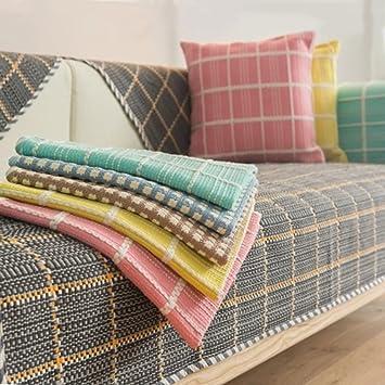 Forma de l sofá cubiertas Algodón Lino Antideslizante ...