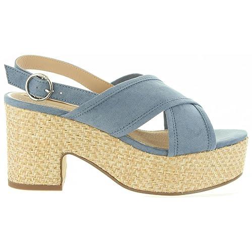 Esparto Mustang Zapatos Azules Amazon Sandalias Y Tacón es qwCC1g