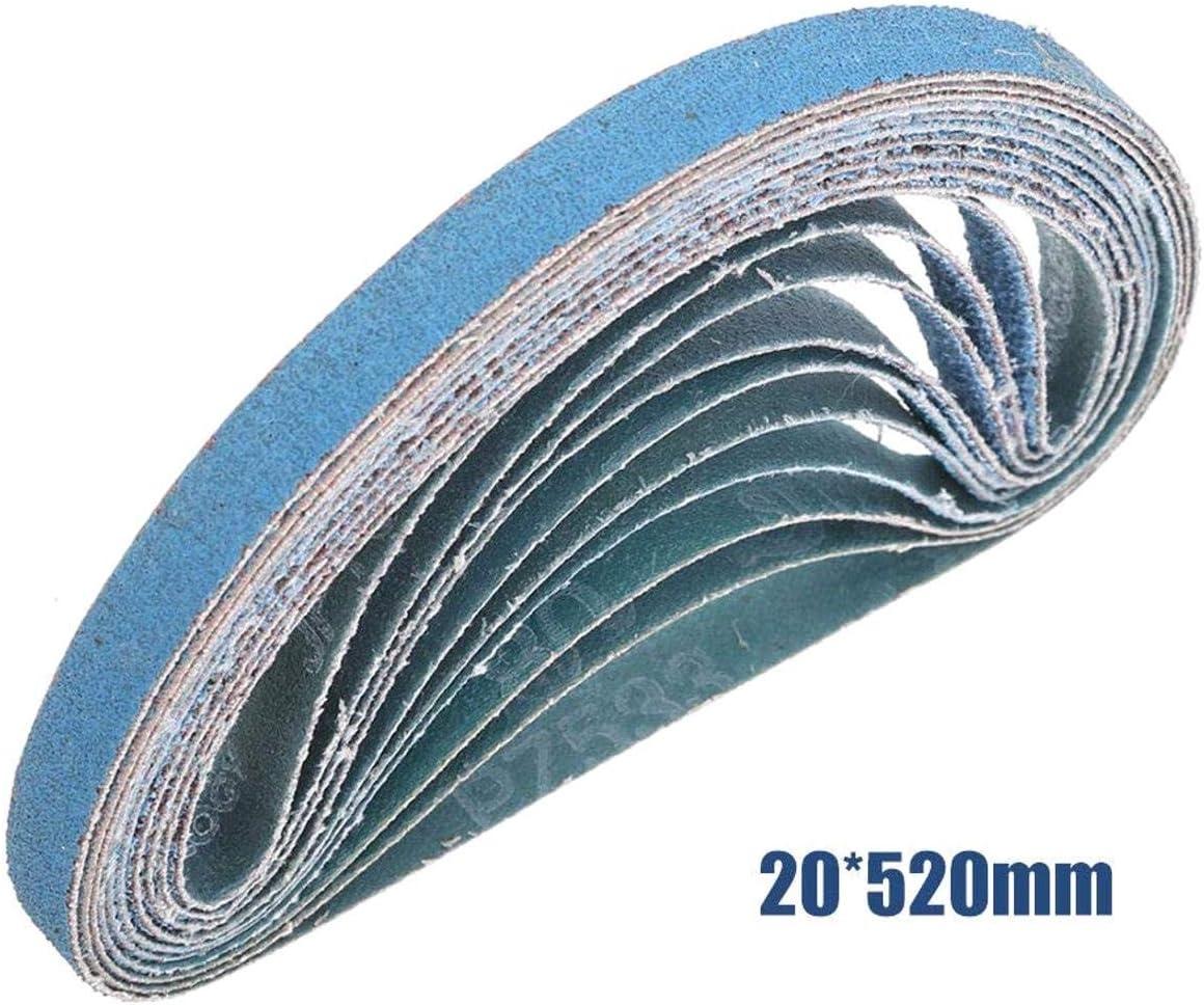 40 Grains pour Ponceuse /électrique 40Grits iMiMi Lot de 10 Bandes abrasives 20 mm x 520 mm