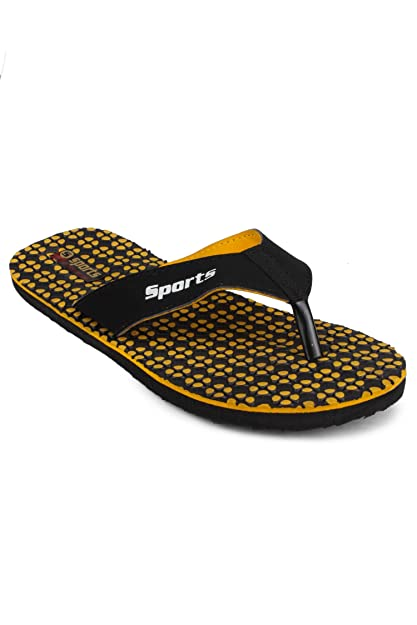 88365115a5b49 11E Men s Yellow Lite Weight Slipper-size 10. Roll over image to zoom in