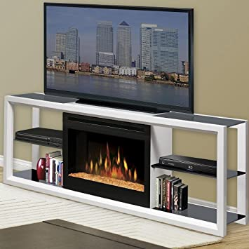 Amazon Com Novara Tv Stand With Electric Fireplace Finish