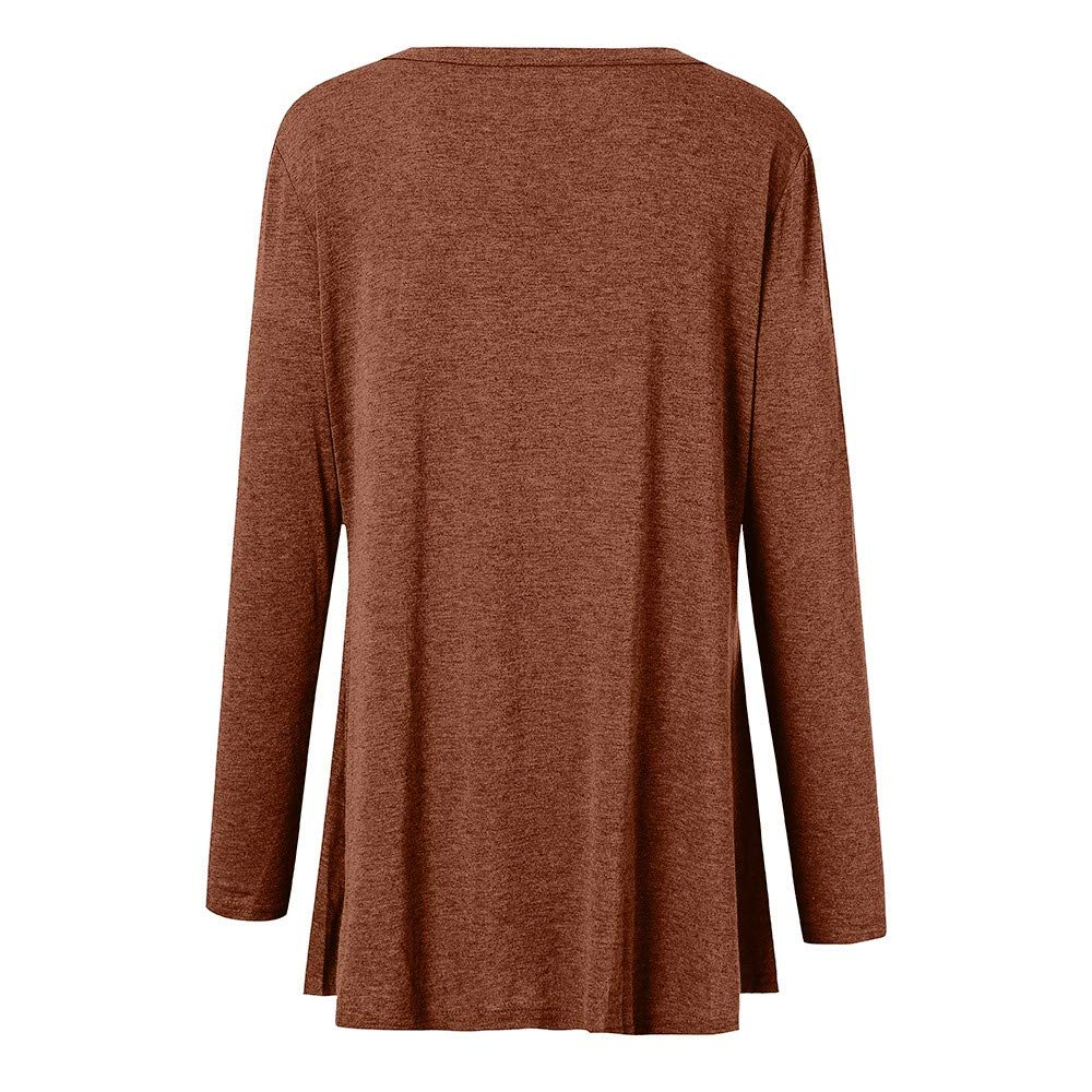 Women Casual Plus Size Long Sleeve Pure Color Fit Open Front Coat Outwear