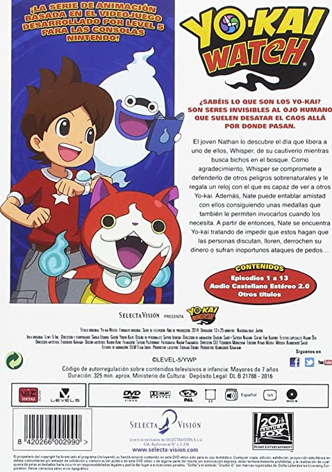 Amazon.com: Yokai Watch Temporada 1 - Parte 1. Episodios 1 A 13 [Non-usa Format: Pal -Import- Spain ]: Movies & TV