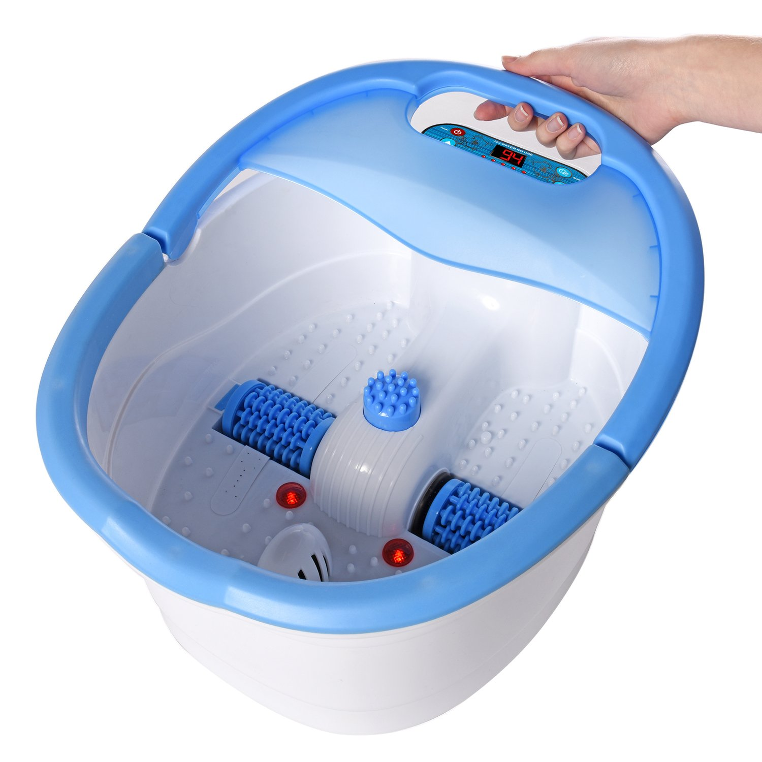Ivation Multifunction Foot Spa - Heated Bath with Vibration, Rollers ...
