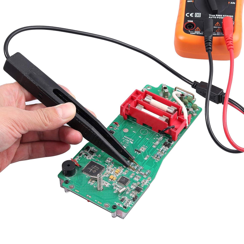 Proster Multi Messleitung Kit 21 in 1 elektrische Multimeter Messleitung mit Krokodilklemmen Testsonde Bananenstecker-Multimeterkabel f/ür Spannungspr/üfer
