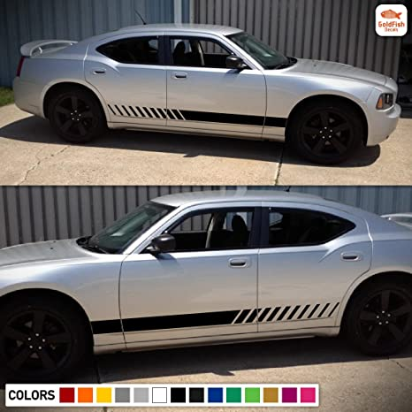 Lower Side Door Stripes Decal Graphic Vinyl Compatible with Dodge Charger  2006-2010