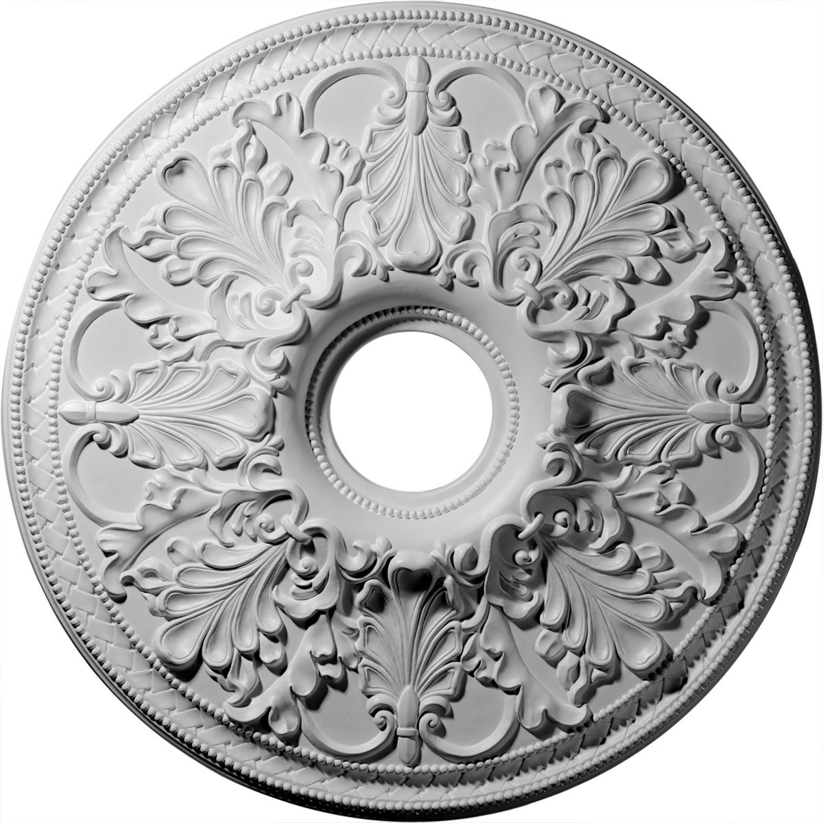 Ekena Millwork CM23AS 23 7/8-Inch OD x 4 1/8-Inch ID Ashley Ceiling Medallion