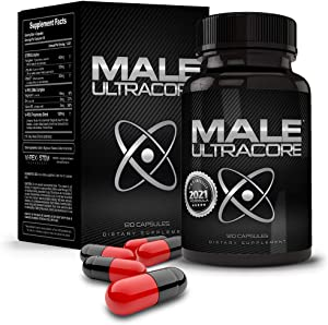 Male UltraCore - High Potency Testosterone Booster for Men - New & Improved Formula - with 2800mgs of Vi-Pex and S.T.E.M. Technology - (120 caps per Bottle)