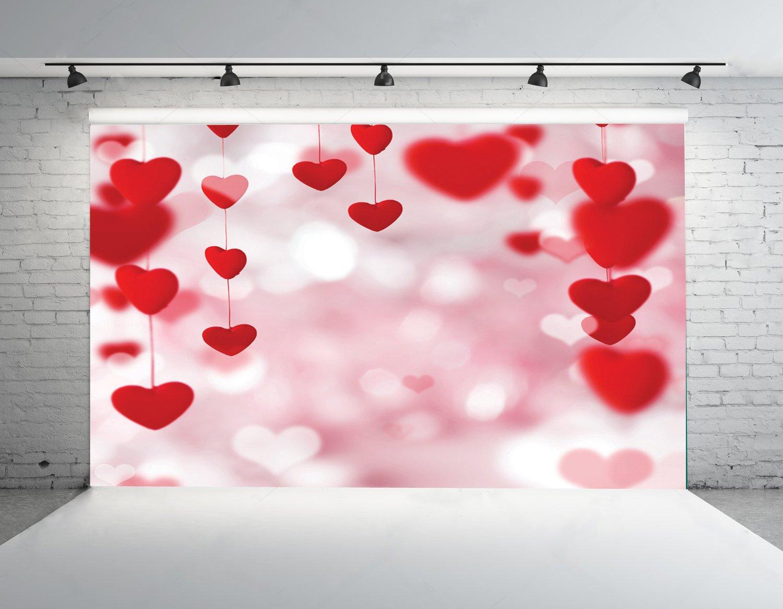 【時間指定不可】 7 X 5ft X Saint B01MS4RH2A Valentine 's Day Lovely Valentine Heart Polyファブリック写真背景背景幕カスタマイズStudio Studio小道具qrj-004 B01MS4RH2A, 私の布団屋さん寝具インテリア:a7a61df2 --- a0267596.xsph.ru