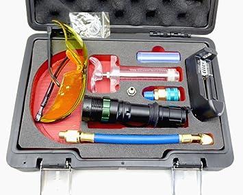 21 LED UV Taschenlampe mit Schutzbrille 395nm KFZ Klimaanlage Lecksuch Lampe Set