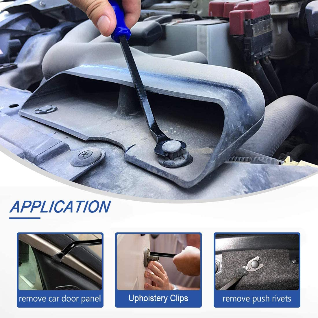 6 PCS Auto Trim Removal Tool Kit with Circuit Tester,No-Scratch Pry Tool Kit for Car Door Clip Panel /& Audio Dashboard Dismantle,Bumper Retainer Clips Fasteners Remover