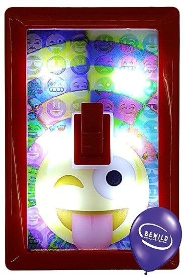 Amazon assorted stick on super bright emoji wall switch night assorted stick on super bright emoji wall switch night light includes bewild balloon mozeypictures Choice Image