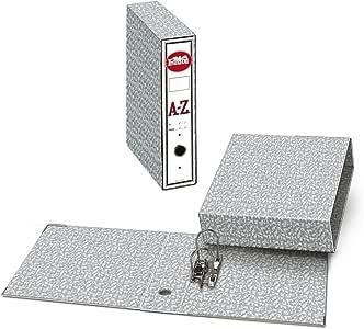 Archivador A-Z PRAXTON Gris Jaspeado, Folio 75 mm. + Caja.: Amazon.es: Oficina y papelería