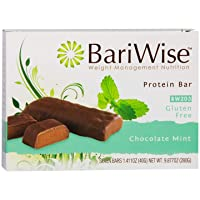 BariWise Protein Bar/Diet Bars - Chocolate Mint (7ct), High Protein, Trans Fat Free, Aspartame Free