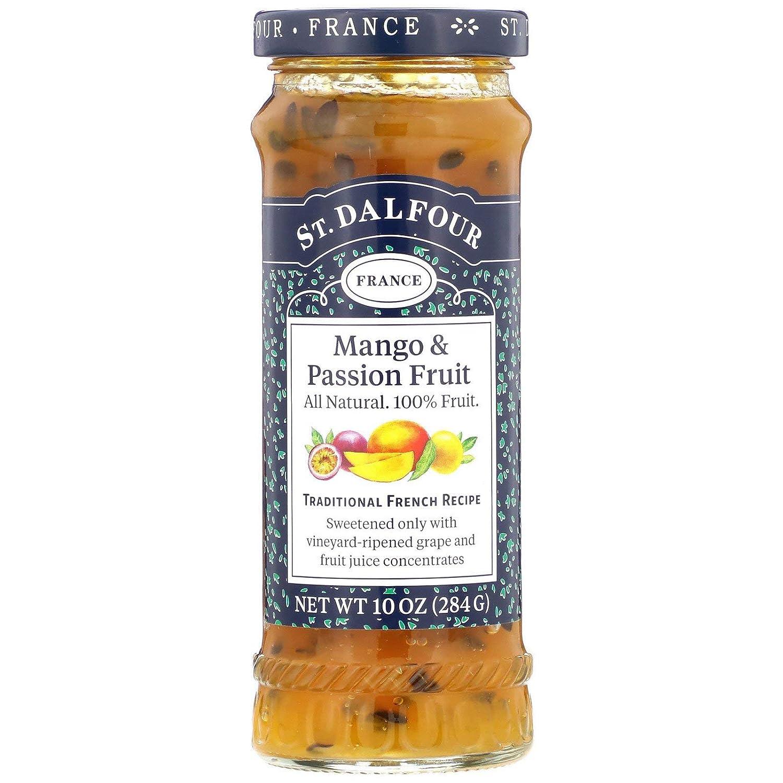 St. Dalfour, Mango & Passion Fruit, All Natural, 100% Fruit Spread, 10 oz