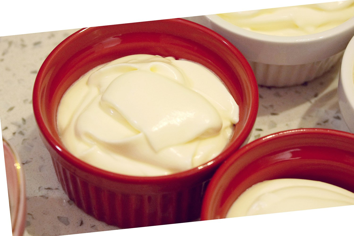 Cinf  Porcelain Ramekin Red 4 oz. Pudding Bowls Dishes Cup For Baking, Set Of 6 by Cinf (Image #3)
