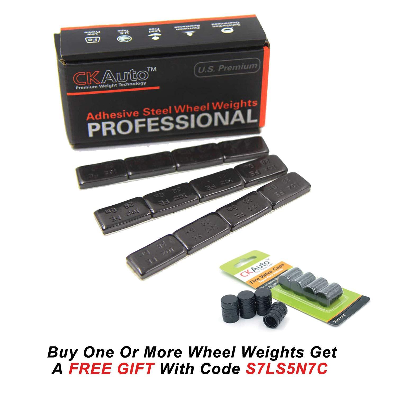 Adhesive Stick on Wheel Weights US Quality, Ford Trucks,SUVs Automobiles 72pcs Black 72 oz//Box 1oz GM