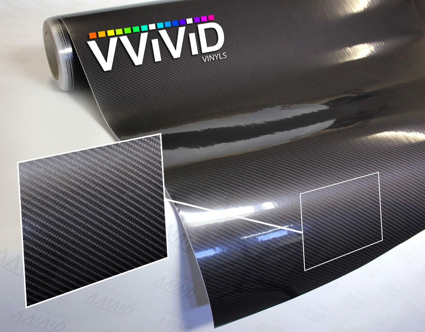 VViViD High Gloss Black Carbon Fiber Tech Art 3-Layer 3D Realistic True Carbon Fiber Look Cast Vinyl Wrap (25ft x 5ft) by VViViD (Image #1)