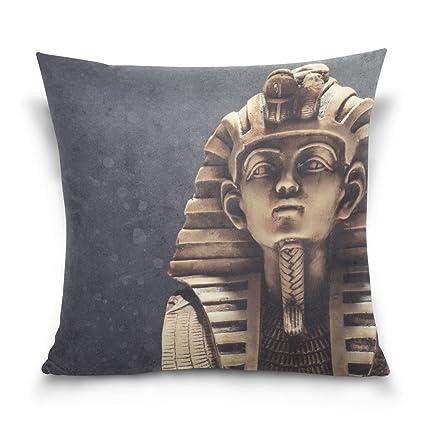 ALAZA piedra Faraón Tutankhamen máscara funda de almohada para sala de estar sofá coche decorativo Cotton