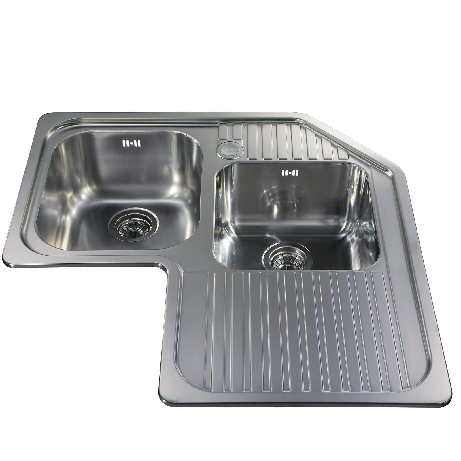 Cda Ccp3ss Stainless Steel 1mm Heavy Gauge Double Bowl Corner Kitchen Sink Buy Online In South Africa At Desertcart Co Za Productid 68952250