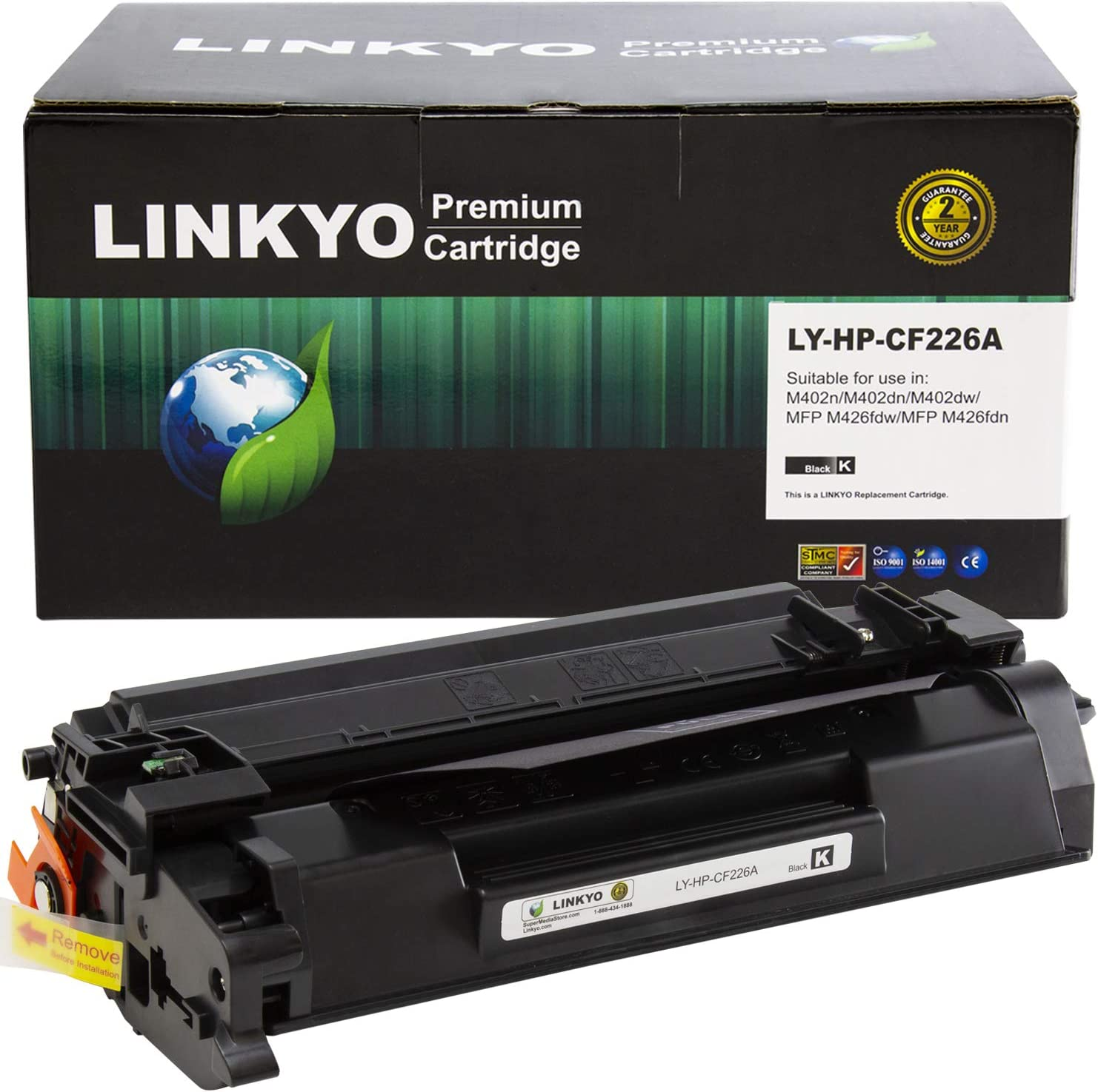 LINKYO Compatible Toner Cartridge Replacement for HP 26A CF226A (Black)
