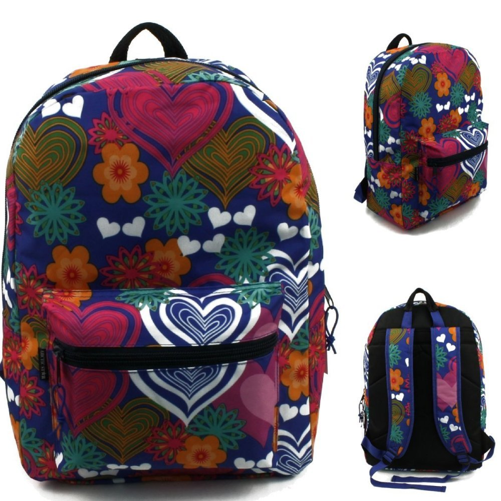 17'' Wholesale Padded Multi Color Backpack - Case of 24