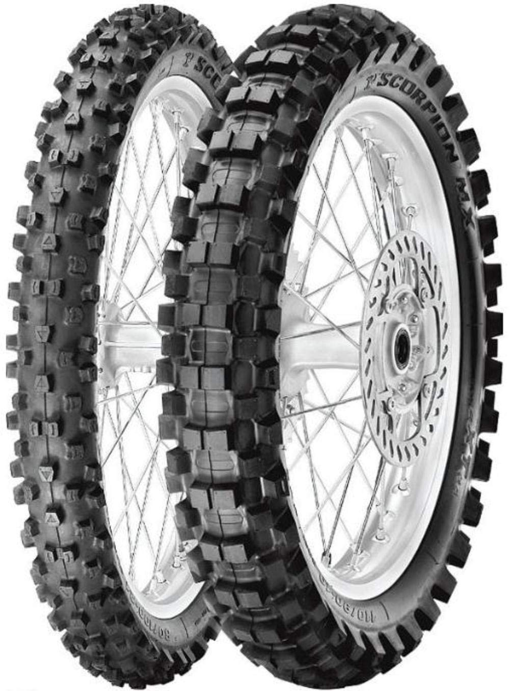 Pirelli Scorpion MX eXTra J Tire - Front - 70/100-17 , Position: Front, Tire Size: 70/100-17, Rim Size: 17, Load Rating: 40, Speed Rating: M, Tire Type: Offroad, Tire Application: Intermediate 2134400 4333046092