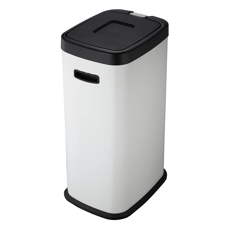 Harima Cubo Basura | Basura Cocina | Cubo Blanco de 38L | Cubo De Basura con Tapa Y Pedal para Levantar La Tapa Y Cubo Interno | 27 x 36 x 62 cm: Amazon.es: ...