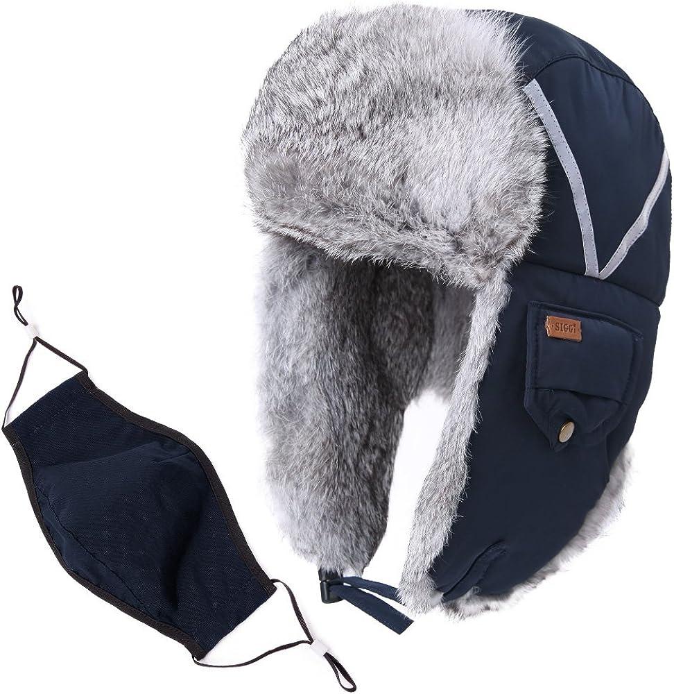 Mens Womens Aviator Trapper Hat Russian Ushanka Ski Earflap Warmer Winter Hat
