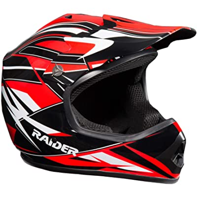 Raider GX3 Unisex-Child MX Off-Road Helmet (Red, Youth Large): Automotive