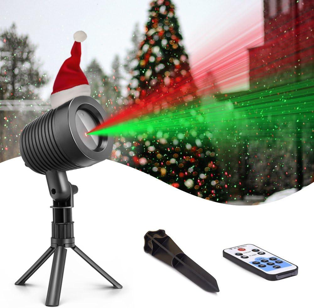 Christmas Laser Lights Landscape Projector Lights Outdoor Waterproof Laser Lamp for Halloween Outdoor Garden/Yard