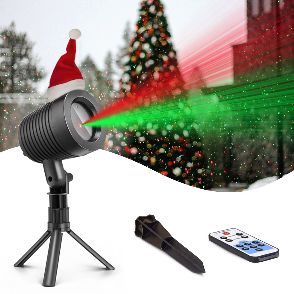 Christmas Laser Lights Landscape Projector Lights Outdoor Waterproof Laser Lamp for Halloween Outdoor Garden/Yard
