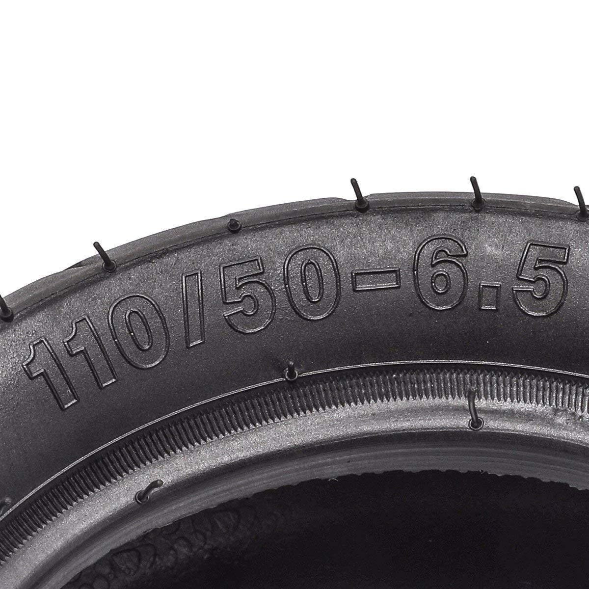 WPHMOTO 2PCS 110//50-6.5 Tire and Inner Tube for 38cc 47cc 49cc Mini Pocket Bike Dirt Pit Bikes