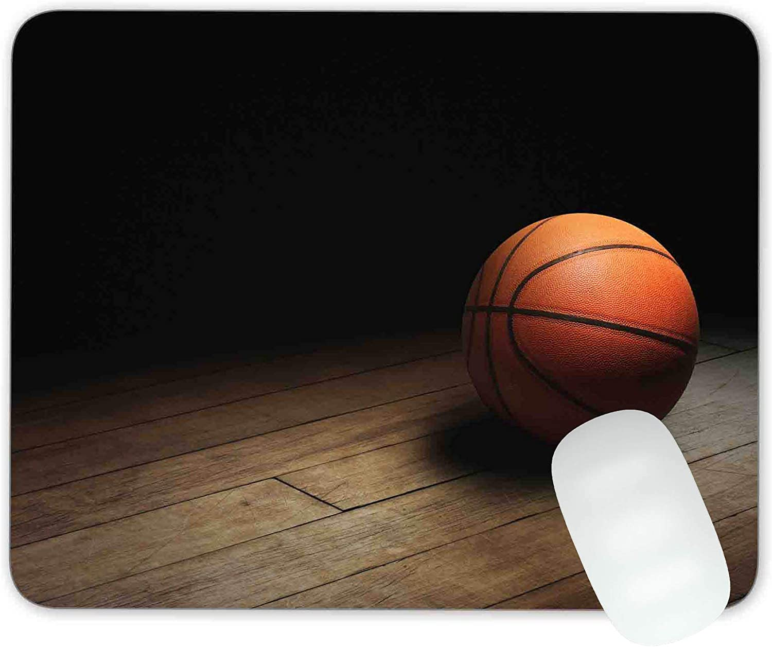 Timing/&weng Basketball on Court Mouse pad Gaming Mouse pad Mousepad Nonslip Rubber Backing
