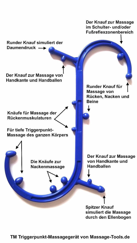 BodyBackBuddy Triggerpunktmassage und Rückenmassage inkl. 1 ...