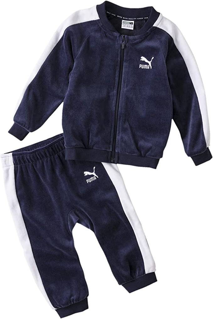 PUMA Kinder Minicats T7 Velvet Trainingsanzug, Peacoat, 74: Amazon