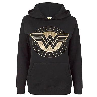 Wonder Woman - Sudadera con Logo para Mujer: Amazon.es: Ropa y accesorios