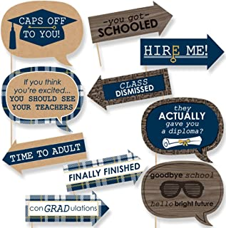 product image for Big Dot of Happiness Funny Grad Keys to Success - Graduation Party Photo Booth Props Kit - 10 Piece