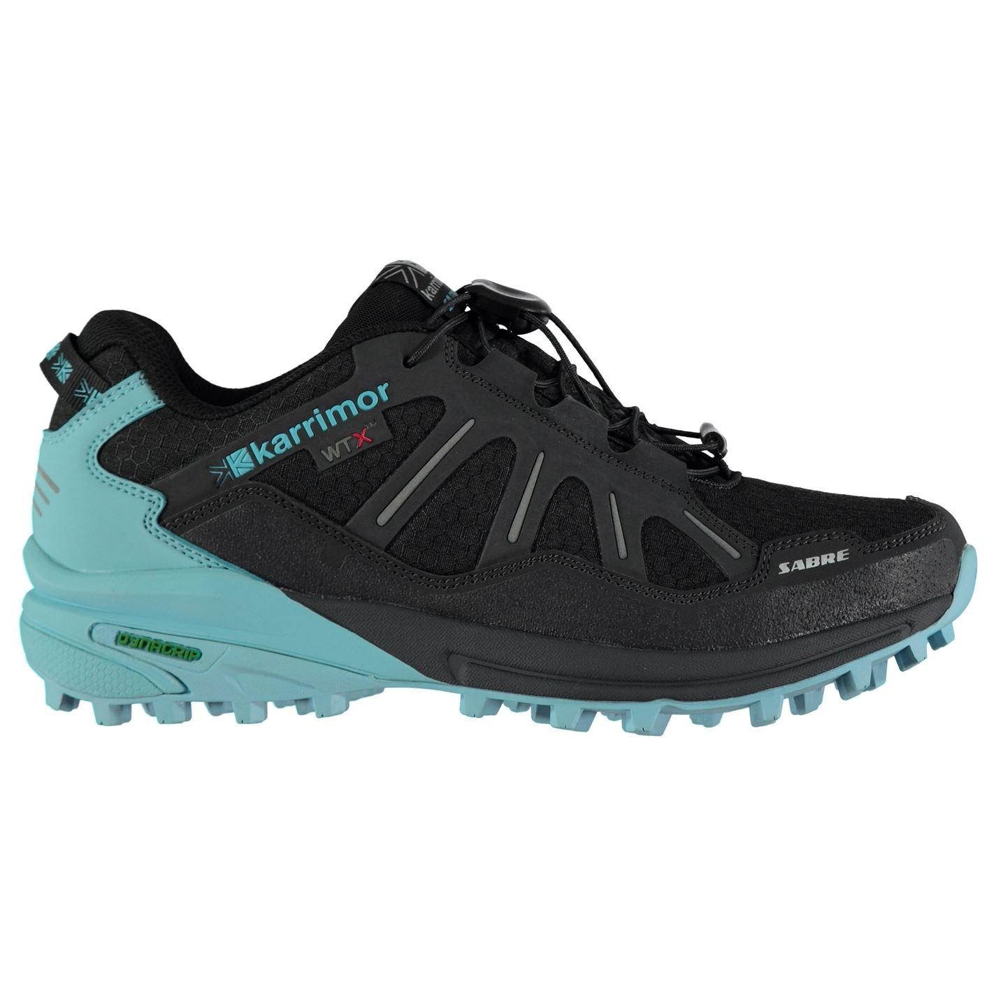 Karrimor Womens Sabre WTX Trainers Sneakers Low Tops Running Shoes Charcoal/Blue UK 6.5 (40)