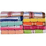Casa Copenhagen-Basics Set of 10 Pcs Terry Wash Cloth Napkins -(Assorted Any 10 Pcs Wash Towels)