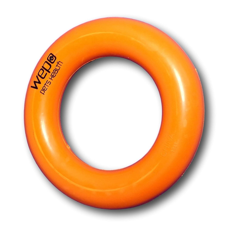 Giocattolo per cani ad anello in caucci/ù naturale WEPO robusto diametro 9 cm perfetto per cuccioli