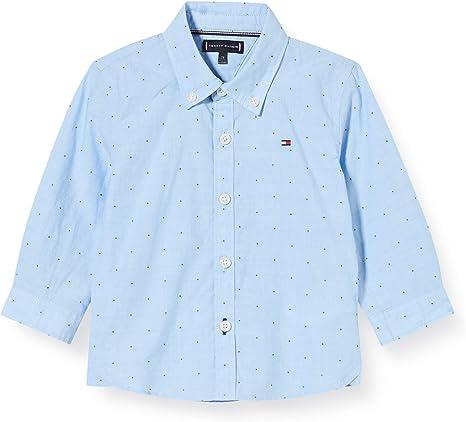 Tommy Hilfiger Dobby Clipping Detail Shirt L/S Camisa para Niños: Amazon.es: Ropa y accesorios