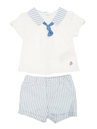 8d49fcb1d Amazon.com: Mayoral - Stripes Short Trousers Set for Baby-Boys ...