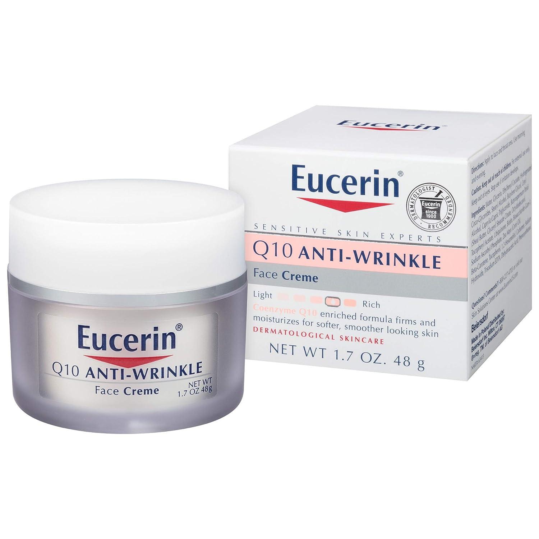 Eucerin Q10 Anti-Wrinkle Face Cream - Fragrance Free, Moisturizes for Softer Smoother Skin - 1.7 oz. Jar
