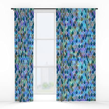 Society6 Mermaid Window Curtains Double Panel